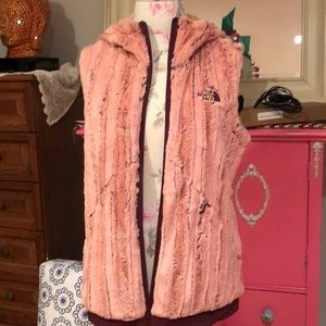 North Face faux fur vest